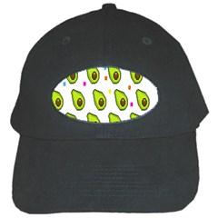 Avocado Seeds Green Fruit Plaid Black Cap