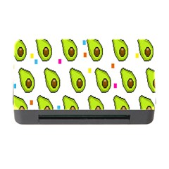 Avocado Seeds Green Fruit Plaid Memory Card Reader with CF