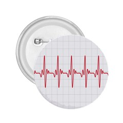 Cardiogram Vary Heart Rate Perform Line Red Plaid Wave Waves Chevron 2.25  Buttons