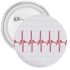 Cardiogram Vary Heart Rate Perform Line Red Plaid Wave Waves Chevron 3  Buttons