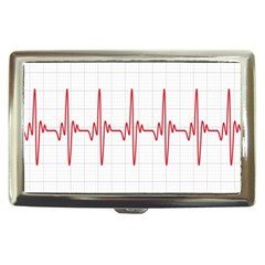 Cardiogram Vary Heart Rate Perform Line Red Plaid Wave Waves Chevron Cigarette Money Cases