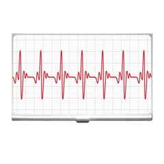 Cardiogram Vary Heart Rate Perform Line Red Plaid Wave Waves Chevron Business Card Holders