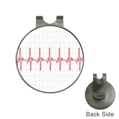 Cardiogram Vary Heart Rate Perform Line Red Plaid Wave Waves Chevron Hat Clips with Golf Markers