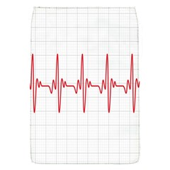 Cardiogram Vary Heart Rate Perform Line Red Plaid Wave Waves Chevron Flap Covers (S)