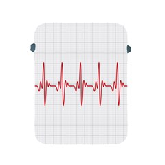 Cardiogram Vary Heart Rate Perform Line Red Plaid Wave Waves Chevron Apple iPad 2/3/4 Protective Soft Cases