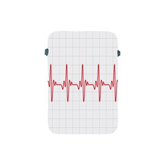 Cardiogram Vary Heart Rate Perform Line Red Plaid Wave Waves Chevron Apple iPad Mini Protective Soft Cases