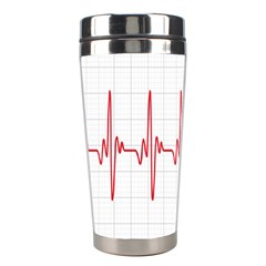 Cardiogram Vary Heart Rate Perform Line Red Plaid Wave Waves Chevron Stainless Steel Travel Tumblers