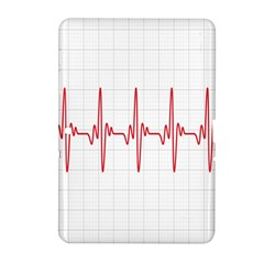 Cardiogram Vary Heart Rate Perform Line Red Plaid Wave Waves Chevron Samsung Galaxy Tab 2 (10.1 ) P5100 Hardshell Case