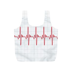 Cardiogram Vary Heart Rate Perform Line Red Plaid Wave Waves Chevron Full Print Recycle Bags (S)