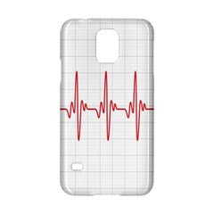 Cardiogram Vary Heart Rate Perform Line Red Plaid Wave Waves Chevron Samsung Galaxy S5 Hardshell Case