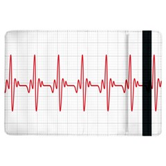 Cardiogram Vary Heart Rate Perform Line Red Plaid Wave Waves Chevron iPad Air Flip