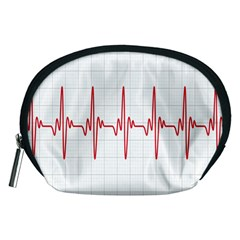 Cardiogram Vary Heart Rate Perform Line Red Plaid Wave Waves Chevron Accessory Pouches (Medium)