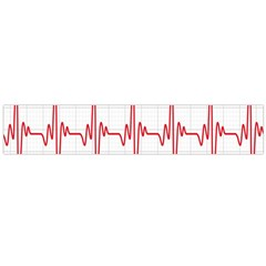 Cardiogram Vary Heart Rate Perform Line Red Plaid Wave Waves Chevron Flano Scarf (Large)