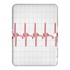Cardiogram Vary Heart Rate Perform Line Red Plaid Wave Waves Chevron Samsung Galaxy Tab 4 (10.1 ) Hardshell Case