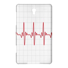Cardiogram Vary Heart Rate Perform Line Red Plaid Wave Waves Chevron Samsung Galaxy Tab S (8.4 ) Hardshell Case