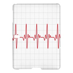 Cardiogram Vary Heart Rate Perform Line Red Plaid Wave Waves Chevron Samsung Galaxy Tab S (10.5 ) Hardshell Case