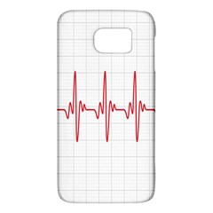 Cardiogram Vary Heart Rate Perform Line Red Plaid Wave Waves Chevron Galaxy S6