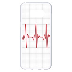 Cardiogram Vary Heart Rate Perform Line Red Plaid Wave Waves Chevron Samsung Galaxy S8 Plus White Seamless Case