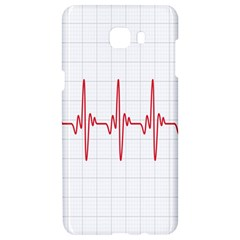 Cardiogram Vary Heart Rate Perform Line Red Plaid Wave Waves Chevron Samsung C9 Pro Hardshell Case