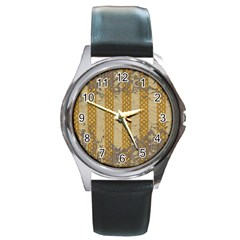 Wall Paper Old Line Vertical Round Metal Watch