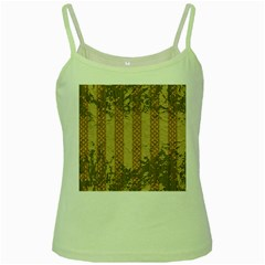Wall Paper Old Line Vertical Green Spaghetti Tank
