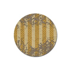 Wall Paper Old Line Vertical Magnet 3  (Round)