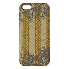 Wall Paper Old Line Vertical iPhone 5S/ SE Premium Hardshell Case