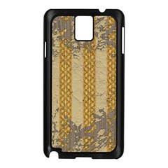 Wall Paper Old Line Vertical Samsung Galaxy Note 3 N9005 Case (Black)