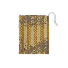 Wall Paper Old Line Vertical Drawstring Pouches (Small)
