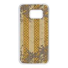 Wall Paper Old Line Vertical Samsung Galaxy S7 White Seamless Case