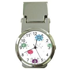 Atomic Starbursts Circle Line Polka Money Clip Watches