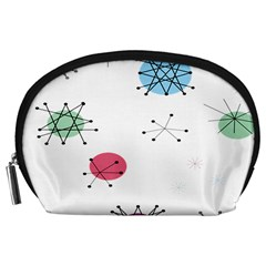Atomic Starbursts Circle Line Polka Accessory Pouches (Large)