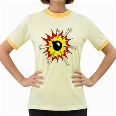 Book Explosion Boom Dinamite Women s Fitted Ringer T-Shirts