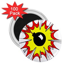 Book Explosion Boom Dinamite 2.25  Magnets (100 pack)