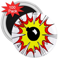 Book Explosion Boom Dinamite 3  Magnets (100 pack)