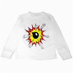 Book Explosion Boom Dinamite Kids Long Sleeve T-Shirts