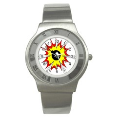 Book Explosion Boom Dinamite Stainless Steel Watch