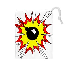 Book Explosion Boom Dinamite Drawstring Pouches (large)