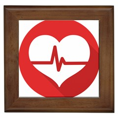 Cardiologist Hypertension Rheumatology Specialists Heart Rate Red Love Framed Tiles