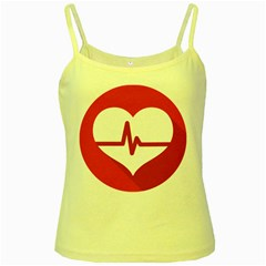 Cardiologist Hypertension Rheumatology Specialists Heart Rate Red Love Yellow Spaghetti Tank