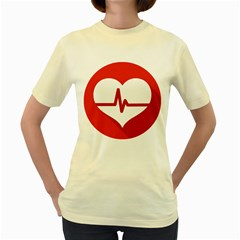 Cardiologist Hypertension Rheumatology Specialists Heart Rate Red Love Women s Yellow T-Shirt