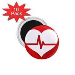 Cardiologist Hypertension Rheumatology Specialists Heart Rate Red Love 1.75  Magnets (10 pack)
