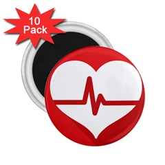 Cardiologist Hypertension Rheumatology Specialists Heart Rate Red Love 2.25  Magnets (10 pack)