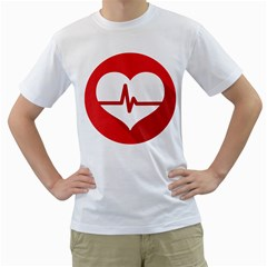 Cardiologist Hypertension Rheumatology Specialists Heart Rate Red Love Men s T-Shirt (White) (Two Sided)