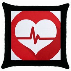 Cardiologist Hypertension Rheumatology Specialists Heart Rate Red Love Throw Pillow Case (black)
