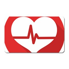 Cardiologist Hypertension Rheumatology Specialists Heart Rate Red Love Magnet (Rectangular)