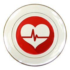 Cardiologist Hypertension Rheumatology Specialists Heart Rate Red Love Porcelain Plates