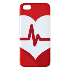 Cardiologist Hypertension Rheumatology Specialists Heart Rate Red Love iPhone 5S/ SE Premium Hardshell Case