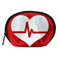Cardiologist Hypertension Rheumatology Specialists Heart Rate Red Love Accessory Pouches (Medium)