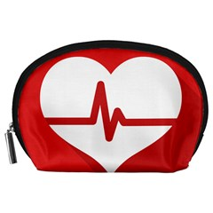 Cardiologist Hypertension Rheumatology Specialists Heart Rate Red Love Accessory Pouches (large)